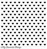 My Favorite Things - Cling Rubber Stamp - Tiny Hearts Background