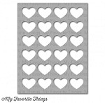 "My Favorite Things - MIX-ables Stencils - 4.5""x5.5"" -  Background Hearts"