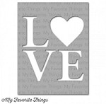 "My Favorite Things - MIX-ables Stencils - 4.5""x5.5"" -  Love"