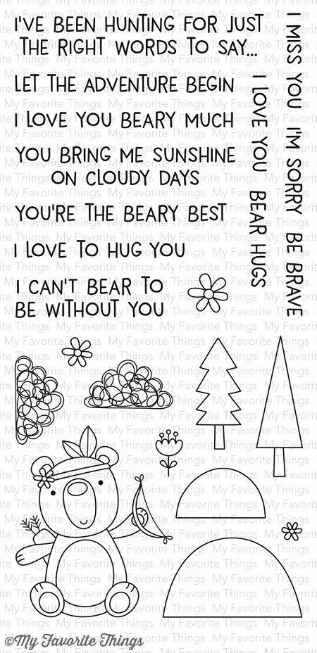 My Favorite Things - Clear Stamp - Beary Big Adventure
