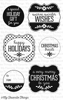 My Favorite Things - Clear Stamp - Christmas Labels & Tags