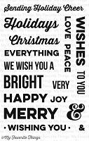 My Favorite Things - Clear Stamp - Merry Messages