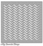 "My Favorite Things - MIX-ables Stencils - 6""x6"" - Small Chevron Stripes"
