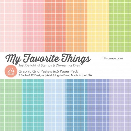 "My Favorite Things - 6""x6"" paper pad - Graphic Grid Pastel Paper Pack"