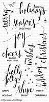 My Favorite Things - Clear Stamp - Hand Lettered Holiday