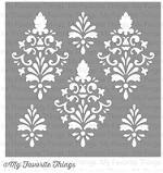 "My Favorite Things - MIX-ables Stencils - 6""x6"" - Damask"