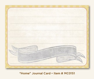 "My Mind's Eye - Miss Caroline - Fiddlesticks ""Home"" - Journal Card"