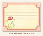 "My Mind's Eye - Miss Caroline - Howdy Doody ""Baby"" - Journal Card"