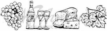 Northwoods Rubber Stamp - Wine & Cheese Cube