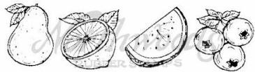 Northwoods Rubber Stamp - Watermelon Cube