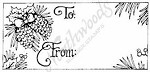 Northwoods Rubber Stamp -Pinecone Gift tag