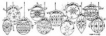 Northwoods Rubber Stamp - Ornament Border