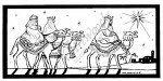 Northwoods Rubber Stamp -Wisemen in Frame