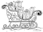 Northwoods Rubber Stamp -Sleigh with Presents