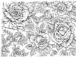 Northwoods Rubber Stamp - Rose Background Block