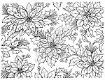 Northwoods Rubber Stamp - Poinsettia Background Block