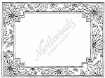 Northwoods Rubber Stamp - Poinsettia Frame