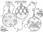 Northwoods Rubber Stamp -Trio of Ornaments