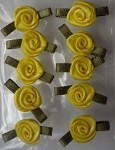 Offray Ribbon Embellishments - Sm Ribbon Rose - Yellow