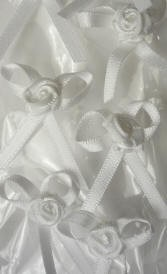 Offray Ribbon Embellishments - Rose Bow - White