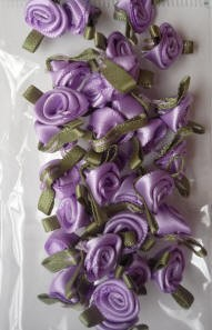 Offray Ribbon Embellishments - Sm Ribbon Rose - Orchid