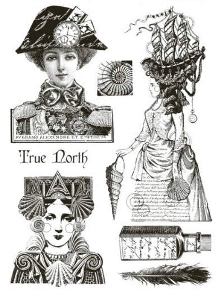 Paper Artsy - Lynne Perrella Cling Mounted Rubber Stamp Set - 001
