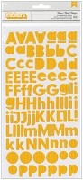 American Crafts/Pebbles Basic Collection - Foam Letter Alpha Thickers - Honeycomb Gold Glitter