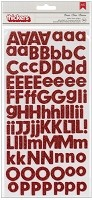 American Crafts/Pebbles Basic Collection - Foam Letter Alpha Thickers - Rouge Red Glitter
