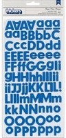 American Crafts/Pebbles Basic Collection - Foam Letter Alpha Stickers Marine (Blue)