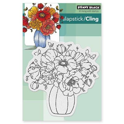 Penny Black - Slapstick Cling Stamp - Centerpiece