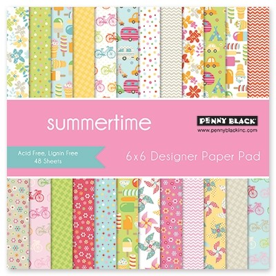 "Penny Black - 6""x6"" Paper Pad - Summertime"