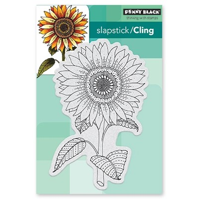 Penny Black - Slapstick Cling Stamp - Sunglow