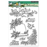 Penny Black - Clear Stamp - Holly Scroll