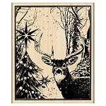 Penny Black - Wood mounted rubber stamp - Enchanted Forest
