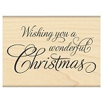 Penny Black - Wood mounted rubber stamp - Festive Wishes
