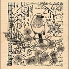 Penny Black - Wood Mounted Stamp - Song of Joy