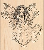 Penny Black - Wood Mounted Stamp - Winged Fairy