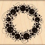 Penny Black - Wood Mounted Stamp - Ornamental Wreath