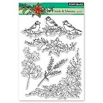 Penny Black - Clear Stamp - Birds & Blooms