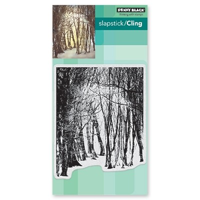 Penny Black - Slapstick Cling Stamp - Winter's Forest