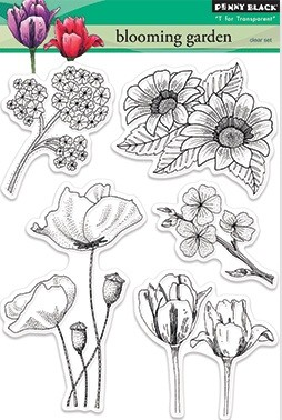 Penny Black Clear Stamp - Blooming Garden