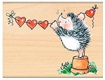 Penny Black - Wood Mounted Stamp - Banner of Love