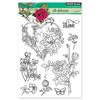 Penny Black - Clear Stamp - All Abloom