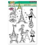 Penny Black - Clear Stamp - Paris Love