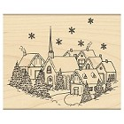 Penny Black - Wood Mounted Stamp - Winterscape