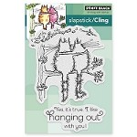 Penny Black - Slapstick Cling Stamp - Hanging Out