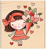Penny Black Wood Stamp - Sweet Heart Mimi