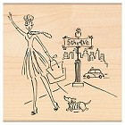 Penny Black - Wood mounted rubber stamp - 5th Avenue