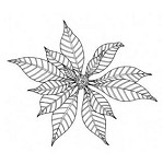 Penny Black Wood Stamp - Christmas Star