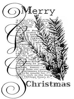 Penny Black Wood Stamp - Christmas Text